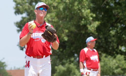 Softball slow pitch warm up